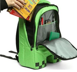Wholesale Best School Bags For Girls - HOT High Quality creeper backpacks school bags,minecraft backpack for unisex bolsas GAME Best Birthday Gifts