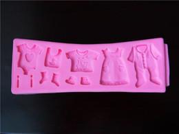 2019 ropa divertida Fabricantes que venden la ropa del bebé del doble del azúcar del silicón herramientas del arte del cordón del azúcar doble DIY que adorna la torta Herramientas creativo diversión linda rebajas ropa divertida