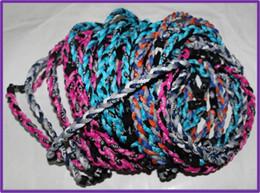 Wholesale Titanium Ionic Sport Baseball Necklaces - Fashion jewlry Tri Braided necklace Ionic Titanium Germanium Sport Baseball Necklace