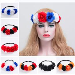 Wholesale Halo Art - Flower Headband Floral Crown Hair Wreaths Headbands Garland Halo for Wedding Festivals Halloween Art Deco Prom