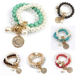 Wholesale Loom Bracelets Charms - Charm Bracelets Fine Jewelry For Women Special Loom Band Unique 2016 Most Popular Design Imitation Turquoise Fashion Multilayer Bracelet