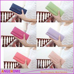 Wholesale Synthetic Leather Handbags Wholesale - HOT Women Fashion Long Wallet Handbags Ladies Wallet Leather Bag Popular Purse Card Holder Free Shipping