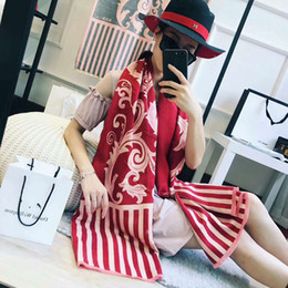 Wholesale Womens Winter Scarfs - 2018 womens winter fashionable floral scarf luxury brand scarves cahsmere scarfs foulards echarpe hiver femme fulares mujer schal luxus mark