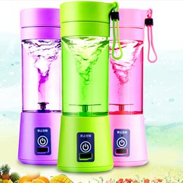 Wholesale New Hand Mixer - New Personal Blender With Travel Cup USB Portable Electric Juicer Blender Rechargeable Juicer Bottle 380ML WX-C54