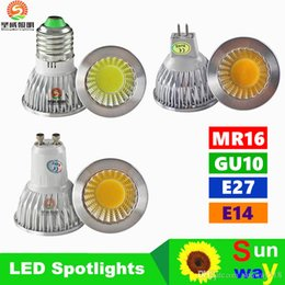 Wholesale Dimmable E27 Lumens - Dimmable E27 E14 GU10 MR16 Led Bulbs Lights High Lumens cob 9W 12W 15W Led Spot Bulbs Lamp AC 110-240V 12V