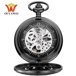 Wholesale Original Pocket Watch - Original Fashion Brand OYW Mechanical Pocket Watch Men Male Full Steel Case Pocket Fob Watches Analog Steampunk Men Hombre Clock