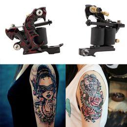 Wholesale Tattoo Starter Guns - Wholesale- High Quality Custom Tattoo Machine Gun for Liner&Shader 10-Wrap Coils Basic Starter Set