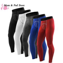 Leggings hasta los tobillos hombres online-Pantalones de la capa de la compresión de los hombres al por mayor de la secado rápido Pantalones de la longitud del tobillo de la primavera mens Leggings