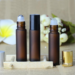 Wholesale Rolled Steel Prices - Factory Price Stainless Steel Ball Refillable 10ml Mini Roll On Glass Bottles Essential Oil Roller ball fragrance Perfume Bottle Wholesale