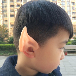 Wholesale elf mask - 2016 Latex Fairy Pixie Elf Ears Cosplay Accessories LARP Halloween Party Latex Soft Pointed Prosthetic Tips Ear 50pair HN721