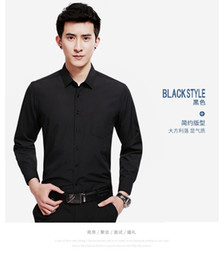 Wholesale men dress shirts purple xxl - Brand New Man Long Sleeve Shirts Dress Shirt Standard Business Shirts Size: (38#-44#) Only Sell $25