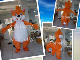 Wholesale Costume Tails Squirrel - export high quality cartoon quality foam head costumes huge tail squirrel mascot costumes fox costumes costume fursuit sport business mascot