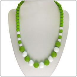Wholesale Necklace Nurse - ilicone Teething Necklace Pendant Nursing Necklace Baby Mommy BPA Free Provides Immediate Teething