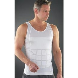 Wholesale Wholesale Body Shirts - Men's Body Shapers Comfortable Belly Shaper For TV Slimming Shirt Boy Body Shapewear Elimination Sexy Girdles Of Male Beer Belly