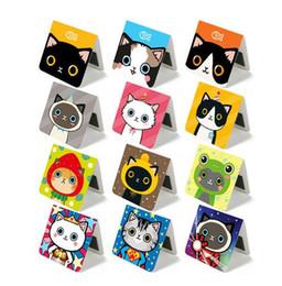 Wholesale Cats Bookmarks - Wholesale-Super cute cartoon cat magnetic bookmark 4*4cm