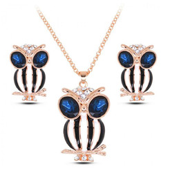Wholesale Owl Earrings China - Fashion Necklace Earrings Jewelry Set High Quality Owl Jewelry Sets For Women Fine Jewelry 2016 Newest Jewelry sets 2016059