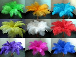Wholesale tables centerpieces weddings - Wholesale a lot 12-14inch 30-35cm beautiful ostrich feathers for Wedding centerpiece Table centerpieces Party Decoraction supply FEA-001