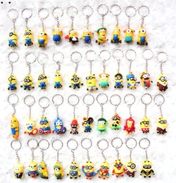 Wholesale Images Boy Accessories - Hot sale wholesale 50pcs cartoon animation image key chain fashion bag accessories children lovely small gifts free shipping 466