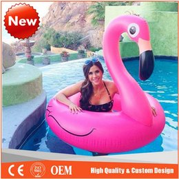 Wholesale Swim Ring Adults - 50 inch 1.25M Giant Swan Inflatable Flamingo Ride-On Pool Toy Float inflatable swan pools Swim Ring Holiday Water Fun Toys for adults