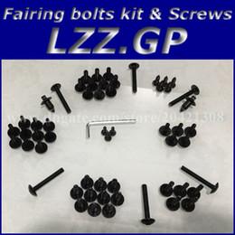 Wholesale Cbr929rr Fairing Kit - Fairing bolts kit screws for HONDA CBR900 929 2000 2001 CBR900RR 00 01 CBR929 929RR Fairing screw bolts Black silver