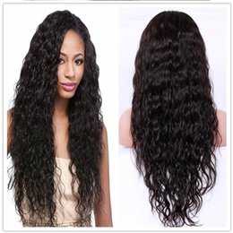 Wholesale Cheap Human Hair Afro Wigs - Lace Front Wig Human Hair 8A Glueless Full Lace Wigs With Baby Hair Natural Wave Brazilian Peruvian Malaysian Cheap Wigs For Women