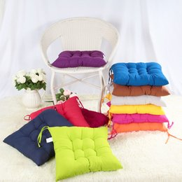 Wholesale Chair Cushion Seat Pad - 11 Colors Solid Cushion Mat Cotton Chair Seat Pads With Cord 40*40CM For Patio Home Car Sofa Office Tatami Decoration