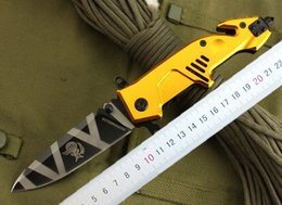 Wholesale Extrema Ratio Mf3 - Extrema Ratio Large size MF3 Flipper survivial folding knife Gold color handle Outdoor camping hiking tactical knife EDC knives