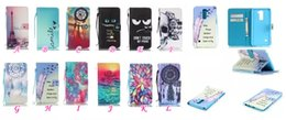 Wholesale Paris Cards - Dreamcatcher Eiffel Tower Paris Flower Wallet Sunrise Sun lotus Leather For LG G Stylo 2   Stylus 2  LS775 K8 K4 Pouch Flip Cover+Strap