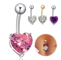 Wholesale Love Dangle Belly Button Rings - Mini Cute Body piercing jewelry Belly Button Navel Rings Body Piercing Jewelry Dangle Accessories Fashion Charm Cupid Love Heart