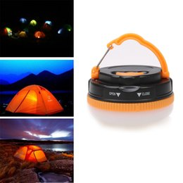 Wholesale Strong Led Battery - Outdoor LED Tent Camping Ligh Lamp Handheld Hanging Battery Powered Strong Magnetic Adsorption LED Lamp 5 Modes Lantern
