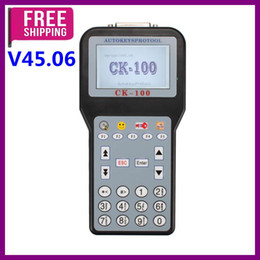 Wholesale Model Car Renault - Newest V45.06 CK-100 CK100 Auto Key Programmer With 1024 Tokens Add New Car Models(Ford, Honda and Toyota) best quality Free Shipping