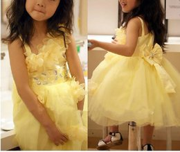 Wholesale Wedding Gown Purple Stone - Ball gown little girls pageant dress birthday party Daffodil Tulle bow appliques flowers stones Sleeveless Flower Girl Dress