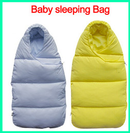 Wholesale Baby Geese - 10PCS Baby sleeping Bag winter Envelope for newborns sleep thermal sack Cotton kids sleepsack in the carriage wheelchairs chlafsack