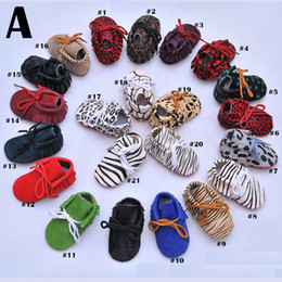 Wholesale Leopard Walking Shoes - Baby Moccasins Genuine Leather Horsehair Leopard Print Baby Walking Shoes Soft Sole Multi Colors Infant Toddler High Quality 0101164