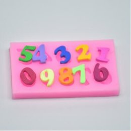 Wholesale Cake Number - 6*3.3cm 3D Numbers Chocolate Silicone Mold Fondant Numbers Cake Decoration Mold Baking Pastry Tools 2pcs lot CCA7168 500lot