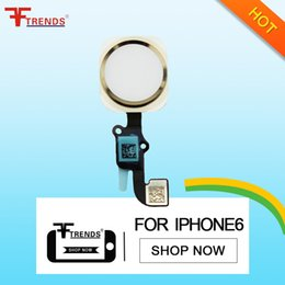 Wholesale Iphone Home Flex - for iPhone 6 Home Button Flex Cable Ribbon Assembly Replacement Repair Parts Black Gold Silver 100% Tested free shipping