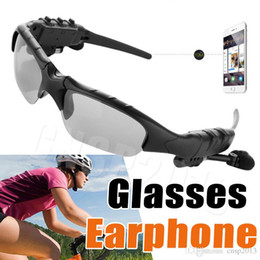 Wholesale Earphone Glasses - Smart SunGlasses Bluetooth Earphone 4.1 Earbud Stereo Sports Handsfree Headset Sun Glasses Wireless Headphones Eyeglasses for iPhone Samsung