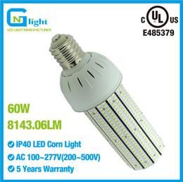 Wholesale Smd Lamps Socket - Retrofit Kits 60W bulb light lamp E39 socket adaptor warehouse corn led with UL CE ROHS certificates