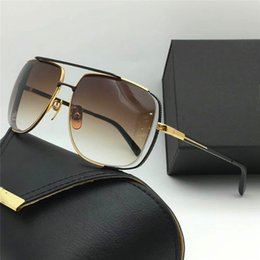 Wholesale Wooden Frame Box - New fashion designer fashion sunglasses square hollow frame popular style simple quality men outdoor eyewear with original box 2010