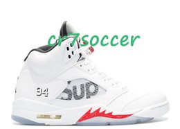 Wholesale Cheap Price Leather Shoes - Cheap price retro 5 Basketball Shoes 5 retro V Athletics sneakers retros 5s low Sports Shoe Casual Trainers Colorway:white black-varsity red