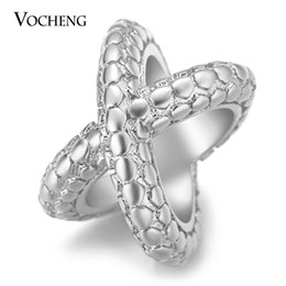 Wholesale Print Circle - VOCHENG Endless Charms Snake-Print Charms for Lambskin Bracelet Crosses Gold Platinum Plated Copper Metal Interchangeable Jewelry VC-283