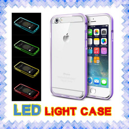 iphone 6s light up case Promotion LED Light Cases Appels hybrides entrants Flash Up Case pour iPhone 5 5s SE 6 6s plus Samsung Note 3 4 S6 S7 Edge 01
