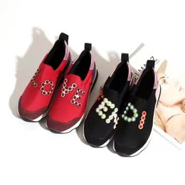 Wholesale Colorful Slips - 2017 New Fashion Designer Colorful Stud Rivets Loafers Stretch Fabric Casual Shoes Round Toe Genuine Leather Autumn Shoes C41