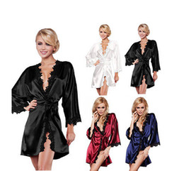 onesies costumes Coupons - New Sexy lingerie sexy dress lace chiffon erotic lingerie Women Pajamas robes sexy underwear costume for women