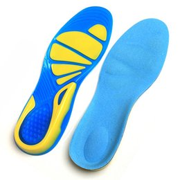 Wholesale Wholesale Foot Insoles - Silicon Gel Running Sport Insoles Shock Absorption Pads arch orthopedic insole Foot Care for Plantar Fasciitis Heel Spur