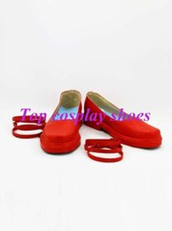 Wholesale Project Games - Wholesale-Freeshipping Game Touhou Project Remilia Scarlet Red Cosplay Shoes boots Custom made for Halloween Christmas