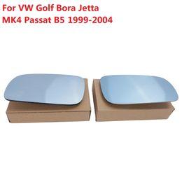 Wholesale Volkswagen Mirrors - Blue Tinted Heated Mirror Glass Wide Angle For VW Golf Bora Jetta MK4 Passat B5 B5.5 1999-2004 L:DRIVER SIDE R:PASSENGER SIDE