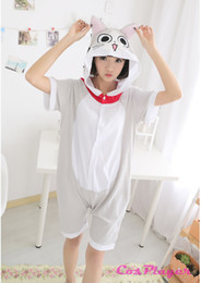 Wholesale Animal Pajamas Onesies - Fashion New Arrival Women Sweet Sleepwear Home Short Sleeve Comfortable Cotton Homewear Grey Unisex Summer Pajamas