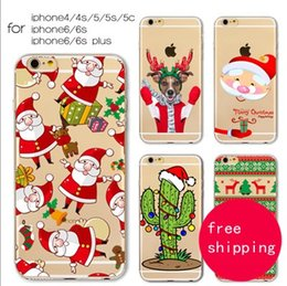 Wholesale Iphone4s Case Tpu - For iPhone4s iPhone5 5c 5s iPhone6 6s iPhone6 6s plus TPU colour decoration phone case Opp Bag