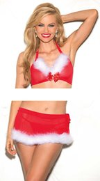 Wholesale Santa Claus Adult - Hot Selling Women Sexy Bikini Christmas Costume Red Party Costume Santa Claus for Adults Christmas Party Cosplay